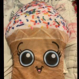 Cute ice cream pillow